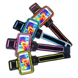 Wholesale S3 Cases Led - Wholesale-Colour Sport Armband Case with LED Lighting for Samsung Galaxy S6   S6 Edge   S5   S4   S3