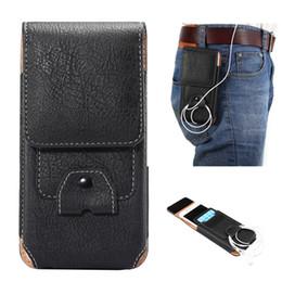 Wholesale Belt Clip Wallet Iphone Case - for iPhone 8 6s 6s plus 7 plus case PU leather Holster belt clip waist Men pouch Note 8 S8 plus Phone Cover