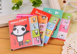 Wholesale Animal Sticker Books - 20%off!Cute animal girl two fold Scratchpad South Korean stationery girl N times stickers sticky notes book notebook Office&SchooL