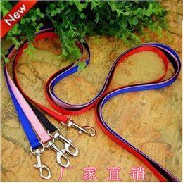 Wholesale Wholesale Rhinestone Dog Leashes - 2015 new 10 lots Pet Leash Harness Rope Dog Leash Training Lead Collar Dog Rope & Harness Rope