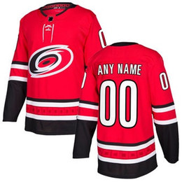 Wholesale Red Wine Stores - nhl hockey jerseys cheap Mens Carolina Hurricanes Red Authentic Custom Jersey store usa sports ice hockey blank personalized cheap shirts AD