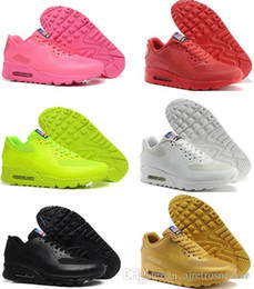 Wholesale American Classic Shoes - Air 90 HYP PRM QS Independence Day Women Running Shoes boost cheap Air 90s Classic American USA Flag shoes Sport sneakers