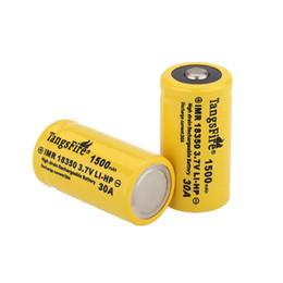 Un par TangsFire 18350 3.7V recargable de la batería 1500mAh 30A de descarga de baterías de corriente Fuente de alimentación para la electrónica de consumo desde fabricantes