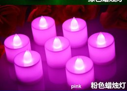 Wholesale Christmas Luminaries - LED Tea Lights Flameless Candles Great for Luminaries Parties Weddings Led Candle Lights Candle Birthday Dinner Candle Lamp