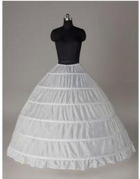 Canada 2017 pas cher jupons robe de bal pour les robes de mariage élastique 6 cerceaux une rangée robe jupon crinoline accessoires de mariage En stock Offre