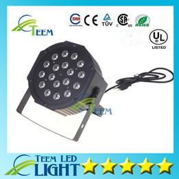 dj controllers Coupons - Free shipping Big Led stage light 18x3W 54W 85-265V High Power RGB Par Lighting With DMX 512 Master Slave Led Flat DJ Auto-Controller