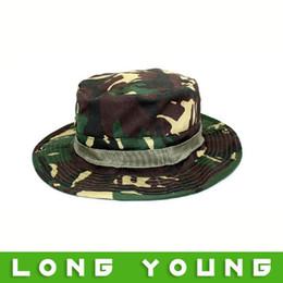 Wholesale Camouflage Caps For Sale - Wholesale-Hot sale sunscreen Camouflage cap outdoor cap bucket hat sunbonnet jungle for outdoor sport