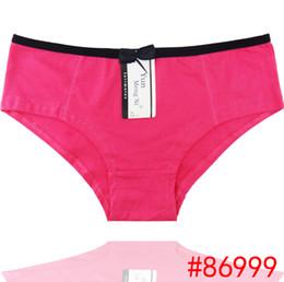 Wholesale Hot Girls Thongs - Solid cotton boyleg lady panties stretched cotton brief women cotton tanga spandex lady underwear thong hot lingerie intimate girl boyshort