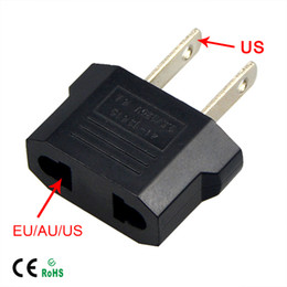 Wholesale Wall Outlet Adapters - 1Pcs Universal Travel EU or US to US AC Plug Converter Euro Europe to US Wall Sockets Power Adapter Charge Outlet