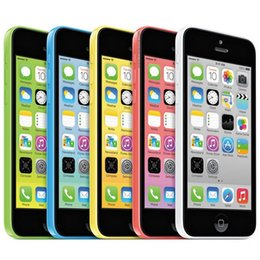 Wholesale Original Ios - Original Refurbished Apple iPhone 5C IOS 8.0 Dual Core A6 4.0 inch Retina Screen 1136*640 HD 4G LTE 3G WCDMA Smartphone