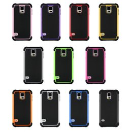 Wholesale S4 Rugged - Hybrid Rugged Impact 3 in 1 Shockproof Heavy Duty Armor Hard Case for Samsung Galaxy S3 S4 S5 Mini I8190 I9190 HTC M8 LG G3