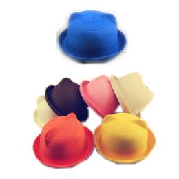 Wholesale Large Beanie Men - Wholesale-E Sun Hat Straw Beach Headwear Cap Bohemia Wide Large Brim Orecchiette cute summer hat straw hat 2015 new tide adorable beanie
