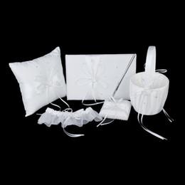 Wholesale Diamante Pen - Wholesale-New Arrivals 2015 Ivory Double Heart Diamante Wedding Guest Book,Pen,Ring Pillow,Flower Basket,Garter Set Free Shipping