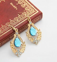 Wholesale Blue Diamond Pair - Canlyn Jewelry (3 Pairs lot) Fashion Arylic Rhinestone Vintage Big Hoop Earrings for Women CE076 coupon