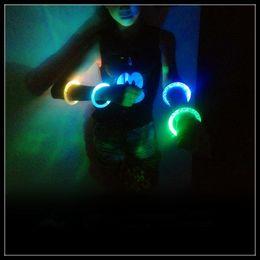 Wholesale Glow Fluorescent Light Sticks Bracelets - NEW Glow stick Fluorescent Bracelets for Concert LED light Sticks DIY gift toys Halloween Celebration Festivities Acrylic Bracelet FREE HOT8