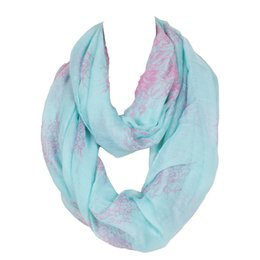 Wholesale Flower Infinity Scarf - 2015 New Flower Totem Print Infinity Scarf Long Fashion Ring Loop Polyester Scarfs Women Winter Scarves Shawls Famous Brand High Quality