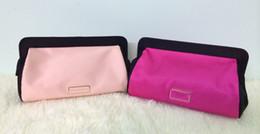 Sacchetti cosmetici di seta online-Moda marca 2 colori designer caso cosmetico lusso trucco organizzatore borsa bellezza borsa da toilette frizione tote borsa di seta boutique regalo VIP