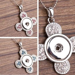 ginger snaps jewelry sale Promo Codes - Hot Sales Fan Pattern NOOSA Interchangeable Jewerly with Crystal Ginger snaps on Jewelry Button Pendants Necklace