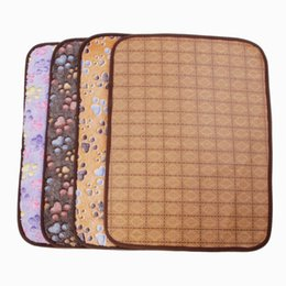 Wholesale Kennel Blanket - Pet Liang Xi Yu Vine Seats Summer Double-sided Dog Mat Kennel Pad Cats Blanket Four Seasons Universal Woody Cushion