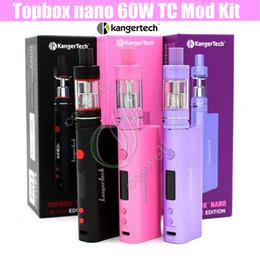 Wholesale Kanger Purple - Top Quality Kanger Topbox Nano 60W TC Starter Kit Topfilling Toptank Nano atomizer SSOCC Coils Subox RDA Kangertech Vapor Mods e cigs Kits