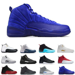 Wholesale Free Multi Games - Free Shipping Super Perfect Quality Air Retro 12 Flu Game French Blue The Master Men women Basketball Sport Shoes