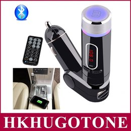Wholesale Smart Car Radio Bluetooth - Hot Bluetooth Car Kit FM Transmitter Hands Free MP3 Player Charger for Smart Phone Hot Sale