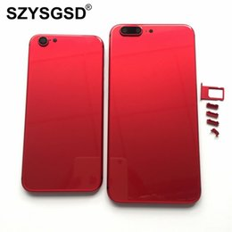 Wholesale Housing Full Case - Full Housing For Apple iPhone 6 6 Plus like 8 style Back Housing Battery Cover Rear Door Case Back Chassis For iPhone 6s