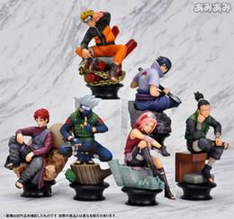 Wholesale Action Figure Caps For Dolls - 8cm 6 PCS   Set Naruto Action Figure Doll High Quality Sasuke Gaara Shikamaru Kakashi Sakura Naruto Anime Toys Collection for Boys