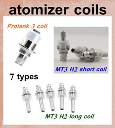 Wholesale Dct Mini - ecig atomizer coil head for mt3 gs h2 mini protank atomizer dct vaporizer vivi nova clearomizer t2 t3s cartomizer coil e cig coil head FJH07