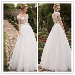 Wholesale Cheap Plus Size Dress China - C.V bohemian wedding dress Through Bodice Sexy Robe de Mariage Lace Appliques Cheap Wedding Dress 2017 New China Bridal Gowns W0103