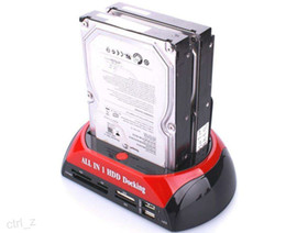 "Wholesale Hdd Dock Station Ide - All In 1 One 2.5"" 3.5"" IDE SATA HDD Hard Drive Disk Clone Holder Dock Docking Station e-SATA"