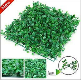 Wholesale Artificial Plastic Boxwood Mat - artificial turf Artificial plastic boxwood grass mat 25cm*25cm free shipping