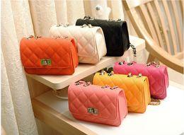 Wholesale Leather Skin Lady - Free Shipping Fashion Women Leather Crossbody Designer Handbag Cover Plaid Chain Ladies Shoulder Bags Classic Skin Bolsas Messenger Bags