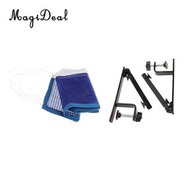redes de tenis portátiles Rebajas Al por mayor- MagiDeal Portable Sport Ajustable Pingpong Table Grid Table Tennis Net y poste Set