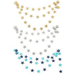 Decoração de estrelas penduradas no casamento on-line-Atacado-Hanging Paper Star Guirlandas 4 M Bunting Colorido Casa Festa de Casamento de Aniversário Festa de Aniversário Banner Decoração Da Porta Do Chuveiro