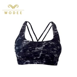 Wholesale China Oem Manufacturer - China sportswear manufacturer women gym underwear OEM ODM high impact breathable running bra sports bra print