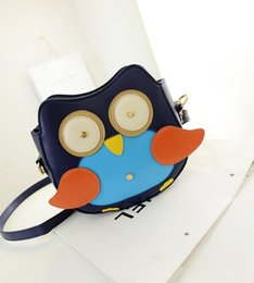 Wholesale Cute Owl Pattern Cartoon - New version of the influx of new winter cute owl pattern messenger bag handbag cartoon animals packet