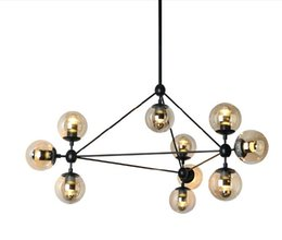 Wholesale Dna Pendant Light - New design Jason Miller Modo Magic Bean Pendant Lamps 3 Sided 10 Globes 4 Sided 15 Globes Modern Sinple MODO DNA Pendant Lights