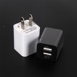 Wholesale Cell Nexus - Cell Phone Chargers plug Dual USB 2.1A AC Power Adapter Wall Charger US Plug 2 port for mobile phone samsung note NEXUS tablet ipad