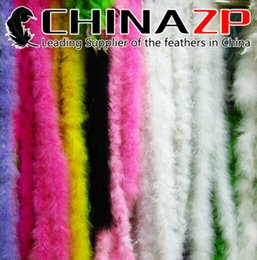 Wholesale Turkey Feather Boa Scarf - CHINAZP Crafts Factory 2yards lot Good Quality Thick Fluffy Mixed Color Turkey Marabou Feather Boa Scarfs
