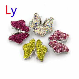 Wholesale China Jewelry Butterfly Ring - 2016 Hot Hybrid random of the color Crystal noosa chunks Clasps Ginger button snaps interchangeable owl butterfly DIY jewelry AC118