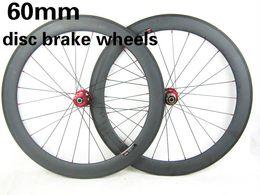 Wholesale Road Bike Disc Brake Set - High quality 60mm depth carbon bikes wheelset cyclocross wheels 20.5mm width rim bicycles wheel disc brake wheels with novatec hub