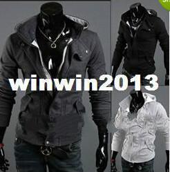 Wholesale Desmond Miles Costume - HOT Assassin's Creed 3 Desmond Miles Hoodie Costume New Coat Jacket COSPLAY men's hoodies coat