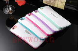 Wholesale Iface Iphone 5s - Hard Pc + Soft TPU Colorful iFace Candy Back Case for iPhone 6 6S Plus 5 5S Back Cover