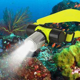 Wholesale Cree Scuba Diving - Underwater 2000 Lumen CREE XML T6 Headlamp LED Waterproof 20M Swimming Diving Headlight Dive Scuba Head Light Torch Lamp