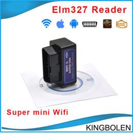 Wholesale Wholesale Gm Engines - Wholesale Super mini elm327 Wifi OBD2 OBD II Diagnostic Tool Interface elm 327 wifi obd2 scanner V2.1 Works on elm327 Torque