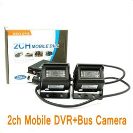 Wholesale Remote Control Mini Car Camera - 2CH Mobile DVR mini vehicle DVR with Alarm Motion Detective 24 Hours Monitor Support 128GB Remote Control with 2pcs camera+cable ann