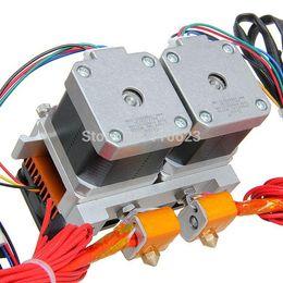 Wholesale Filament Extruder - Free Shipping E3d Nozzle 0.3 0.35 0.4 0.5mm Optional Dual Printer Head MK8 Extruder for Reprap 3D Printer 1.75 3mm Filament