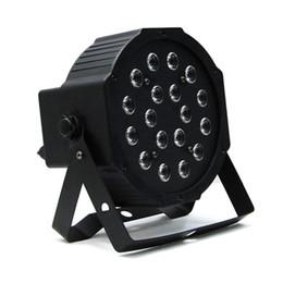 Wholesale Power Equipments - Edison2011 18W LED Stage Light High Power RGB Par Light with DMX Master Slave LED Flat DJ Equipments Controller