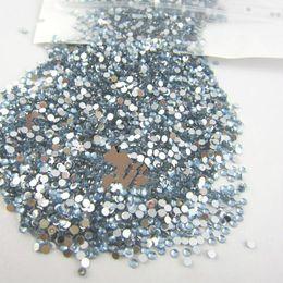All'ingrosso-Nail Art Rhinestone 20000pcs / pack 2mm SS6 Crystal BLU Glitter Clear Color Acrylic Stones Decorazione posteriore piana per GEL Nails da